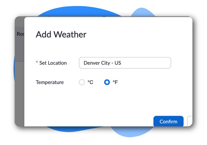Digital Signage - Add Weather