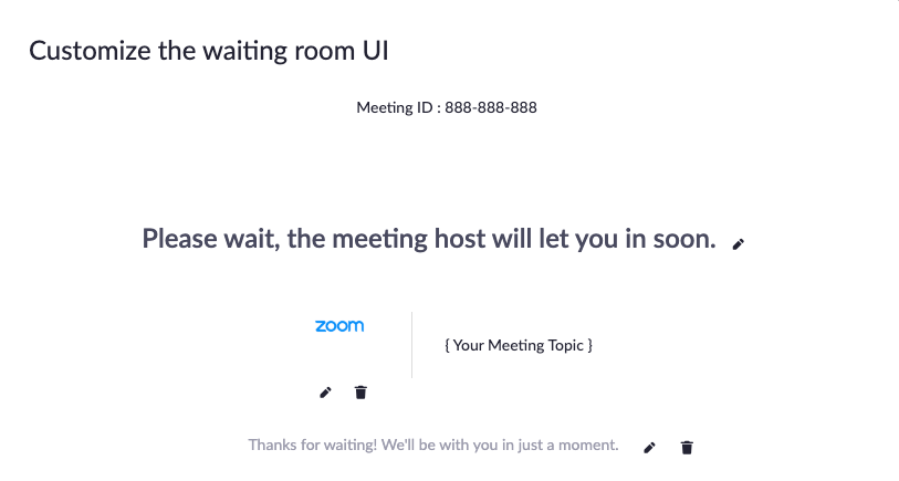 Customize Your Waiting Room