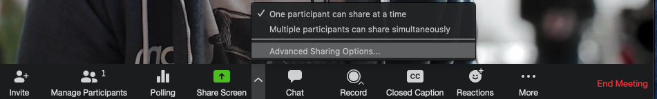 Advanced Sharing Options