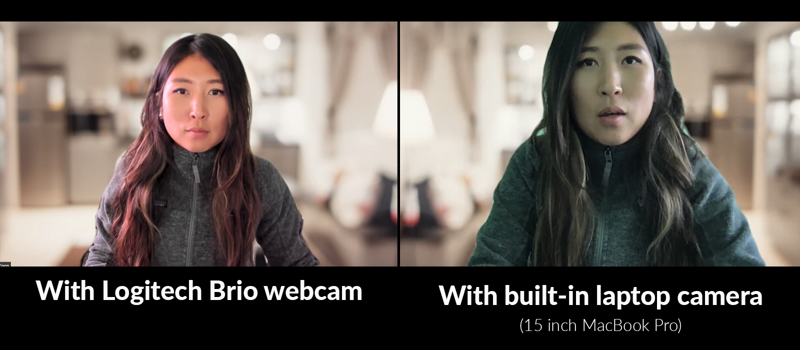 Zoom Work From Home - Lighting Comparison