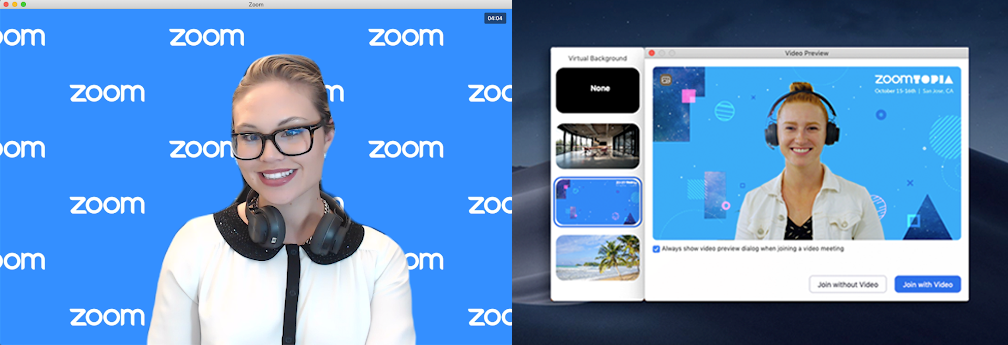 Company branding on your Zoom Virtual Background