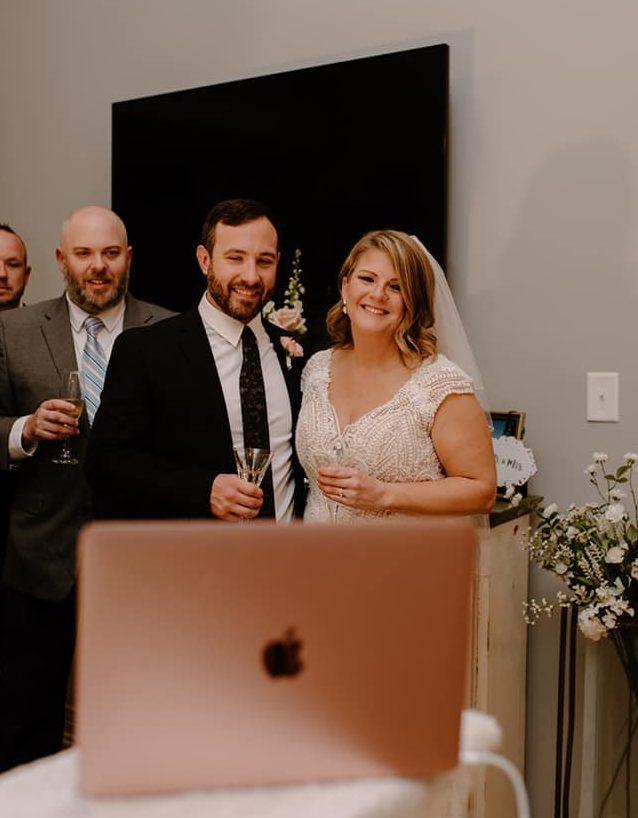 A Zoom wedding