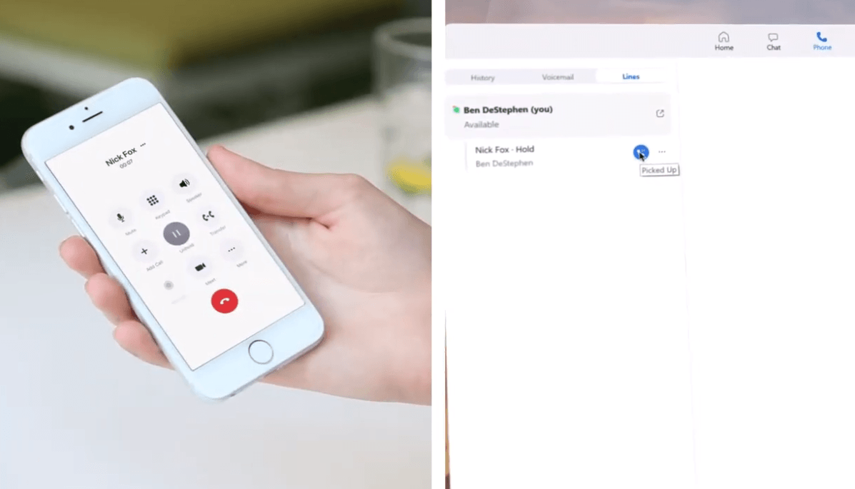 Zoom Phone Call Flip