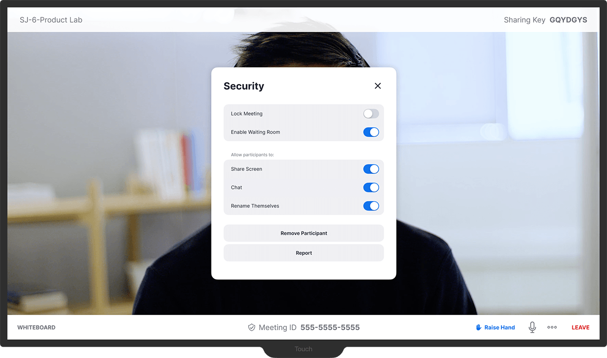 Zoom Rooms for Touch - Security Controls