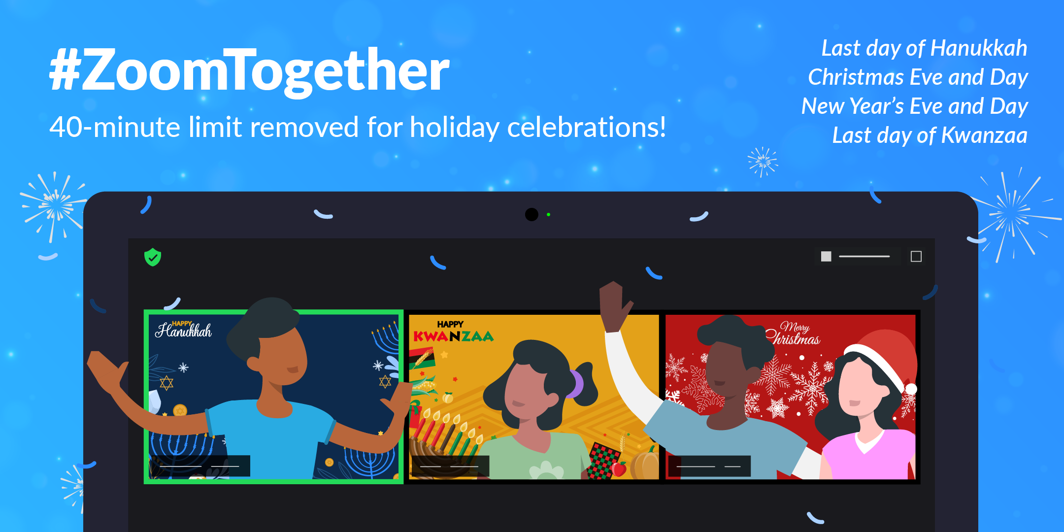 #ZoomTogether: Celebrate the Holidays with Unlimited Meetings - Zoom Blog