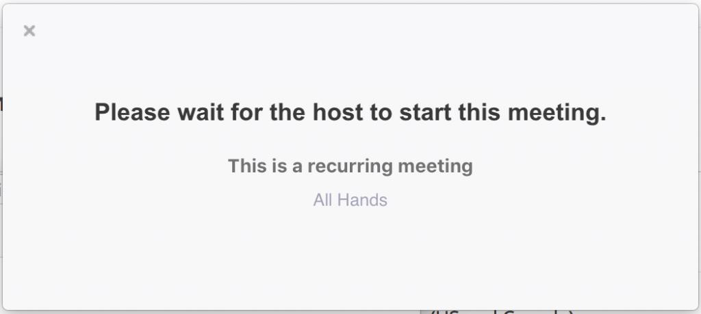 Warten auf den Host, um dieses Meeting zu starten