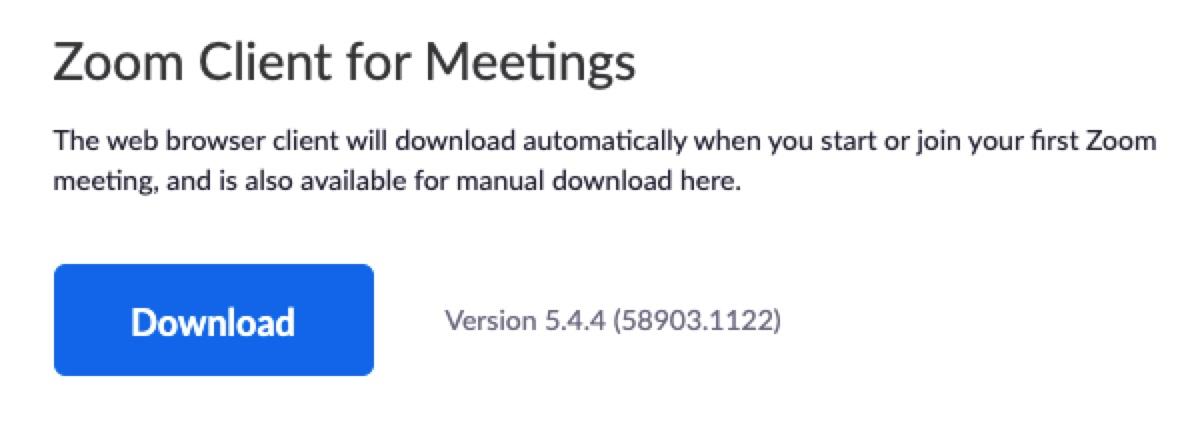 Zoom Client für Meetings