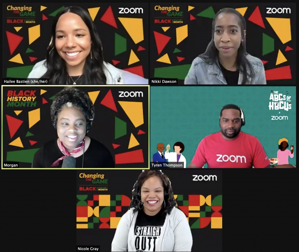 Zoom meeting with artist and writer Morgan Harper Nichols for Black History Month