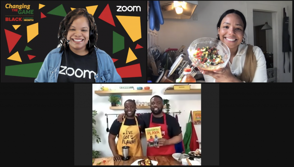 Zoom meeting with chefs Craig and Shaun McAnuff for Black History Month
