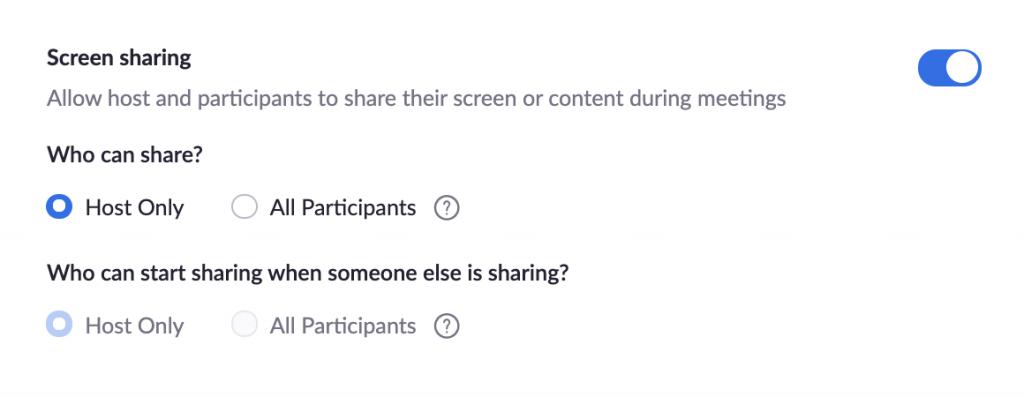 Compartilhamento de tela